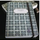 Zakka Retro Dark Greyish Green Floral Tile Pattern Design Handheld Journal Notebook