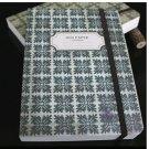 Zakka Retro Dark Greyish Green Floral Tile Pattern Design Handheld Journal Notebook