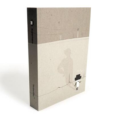 Cute Super Hero Cartoon Blank Notebook Journal