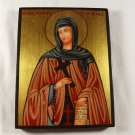 Hand Painted on wood Orthodox icon Saint Theodora from Sihla / Teodora de la Sihla (18 x 14 cm)