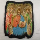 Hand Painted icon Mary & Jesus & John the Baptist - Traditional From Romania