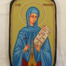Painted on wood Byzantin Orthodox Icon Saint Paraskevi ( 35 x 23 cm ) traditional-from-romania.ro