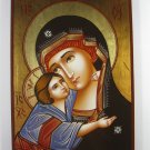 Painted on wood Romanian Orthodox Icon Holy Mother Mary & Jesus(29x21 cm)Traditional-From-Romania.ro