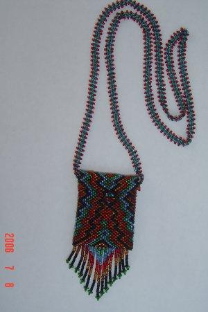 Medicine Amulet Bag Glass Seed Beads