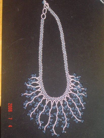 Beaded Jewelry Dangle Necklace Glass Seed Beads