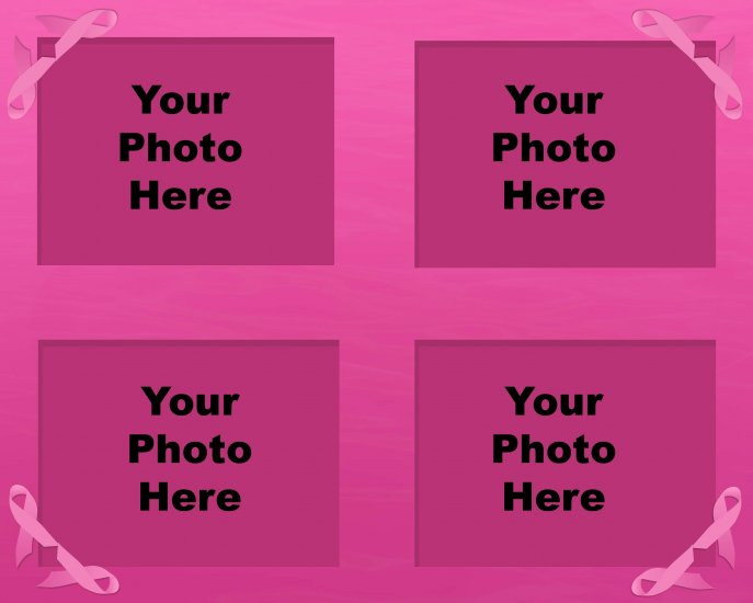 Custom photo collages for breast cancer survivors.