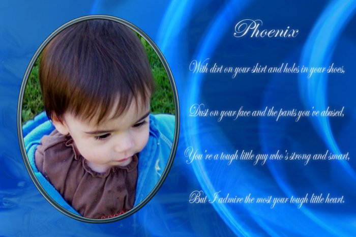 InspiredGFX Baby boy photo with poem