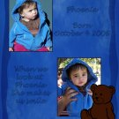 InspiredGFX 2 Picture Blue Teddy Bear Collage 8x10 inches