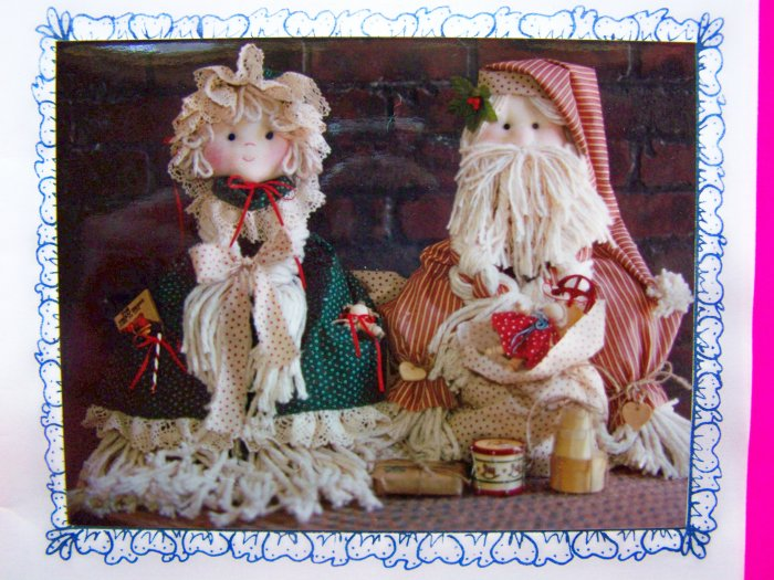 Mops Be Claus Pattern Santa Mrs Clause Country Christmas Mop Dolls 1 penny Shipping