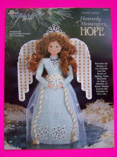 Plastic Canvas Pattern Heavenly Messengers Hope Angel Christmas Doll Snowflake