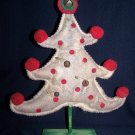 Primitive Country Christmas Tree Shelf Sitter Make Do Grungy Rusty Jingle Bells