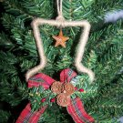 3 Country Christmas Tree Ornaments Primitive Rusty Star Snowman Hats Ornament
