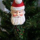 Vintage Moon Santa Christmas Ornament Holly Berry Body