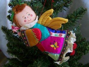 Vintage Angel Doll Christmas Tree Ornament 1 Cent Shipping USA