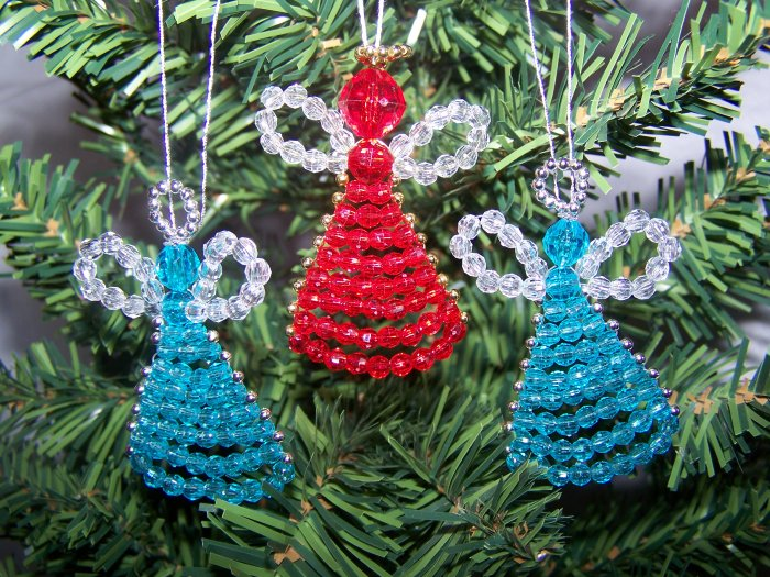 Vintage Angel Christmas Tree Ornaments Blue Red Gift Decoration 1 Penny SHipping Specials