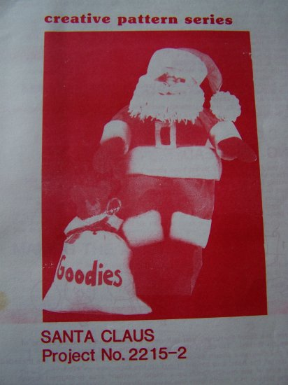 Vintage Sewing Pattern Santa Clause Doll and Clothing Soft Sculpted Face