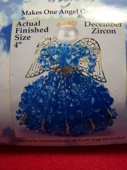 Darice Craft Kit Birthstone Angel Beaded Christmas Tree Ornament December Beads