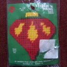 Vintage Christmas Tree Ornament Craft Kit Plastic Canvas Bulb 1 Penny USA S&H
