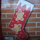 Easy Red Felt Christmas Stocking Craft Kit Gingerbread Man New Vintage Christmas Treasures