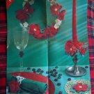 1 Cent USA S&H Vintage Christmas Flowers Crochet Patterns Wreath Mat Candle Napkin