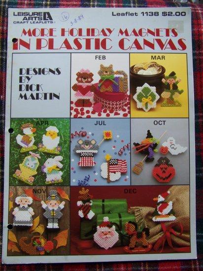 21 Vintage Patterns Holiday Magnets in Plastic Canvas Pattern Leaflet 1138