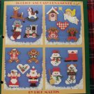 Vintage 18 Christmas Ornaments Mini's In Plastic Canvas Patterns Leaflet 1059