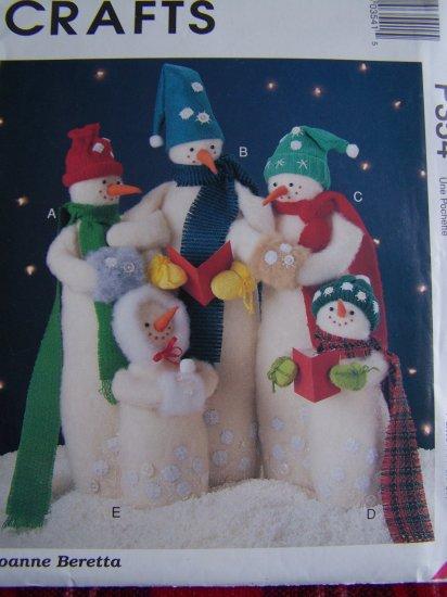 USA 1 Cent S&H McCalls Christmas Craft Pattern Snow Carolers Snowman Dolls P 354