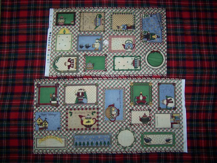 New Mumms The Word Debbie Mumm Christmas Fabric Cotton Gift Tags Sewing Material