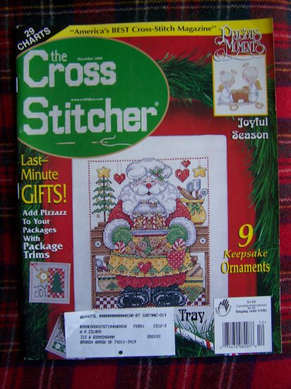 December 2000 The Cross Stitcher Christmas Cross Stitch Charts Patterns