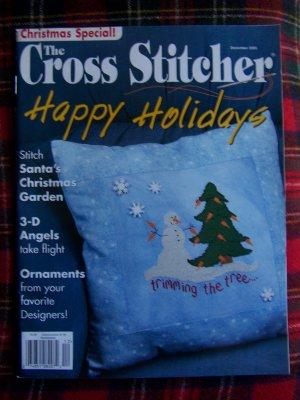 December 2005 Cross Stitcher Patterns Magazine Christmas Tree Skirt Cross