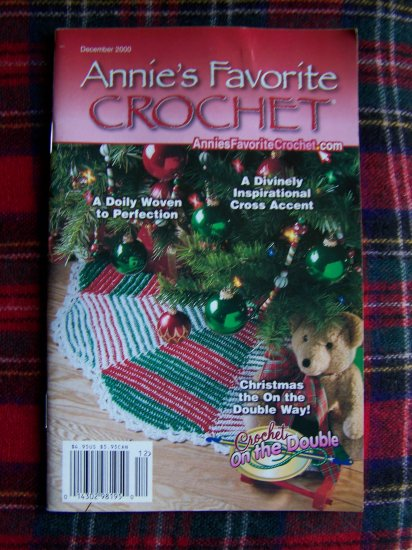 Annies Favorite Crochet Patterns Book 108 Christmas Tree SKirt Stocking Afghan