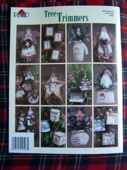 Cindy Mann Country Folk Art Christmas Tree Trimmers Painted Ornaments Patterns Tree Toppers