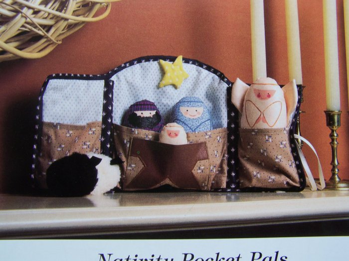 Child's Cloth Christmas Nativity Play Set Sewing Pattern Manger Mary Joseph Jesus Angel