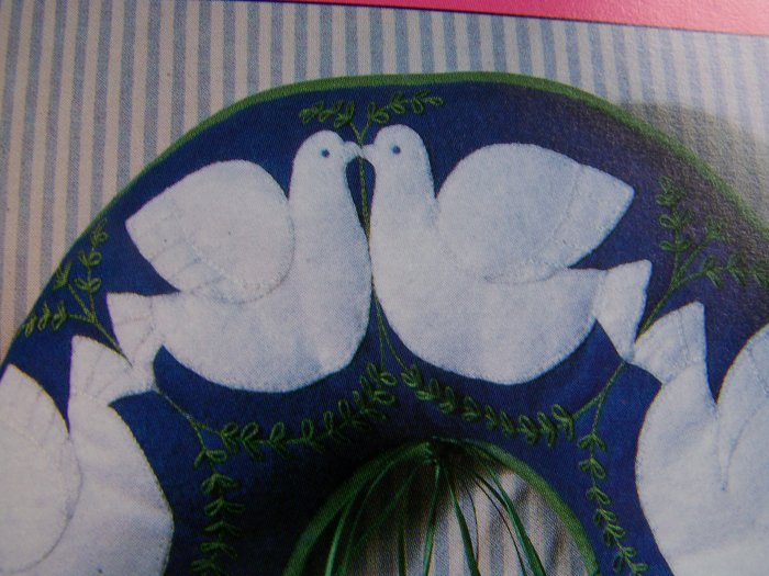 Turtle Doves Christmas Wreath Dove Ornaments Garland Sewing Pattern