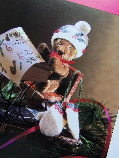 USA 50 Cent S&H Tiny Knit Christmas Hat and Mittens Mini Ornaments Knitting Patterns