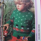 USA 1 Cent S&H Vintage Knitting Pattern Child's Soldier Christmas Pullover Sweater