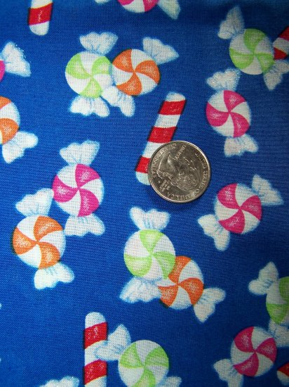 Christmas Cotton Fabric Starlight Mints Candy Cane Sticks with Glitter Sparkles