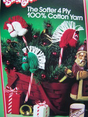 USA 1 Cent S&H Candy Cane Yarn Ponies Patterns Easy For Kids