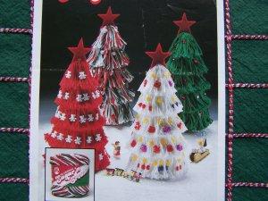 1 Cent USA S&H Vintage Tassel Christmas Trees Patterns