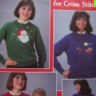 USA 1 Cent S&H Leisure Arts Leaflet 444 Cross Stitch Patterns Christmas Sweaters