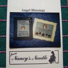 2 Nancy's Needle Christmas Patterns Angel Blessings Cross Stitch Samplers