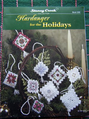 Stoney Creek Hardanger Patterns for The Holidays Christmas Ornaments Tags