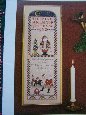 1992 Pat Thode Tis The Season Christmas Cross Stitch Embroidery Pattern Sampler