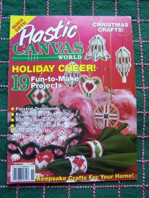 Plastic Canvas World Magazine Nov 92 Christmas Needlework Patterns