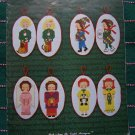 18 Vintage 1970's Embroidery Patterns Christmas Children Book 2 Graph Menagerie