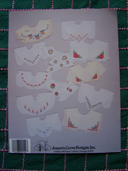 12 Vintage Needlework Embroidery Christmas Collars Patterns Book 65