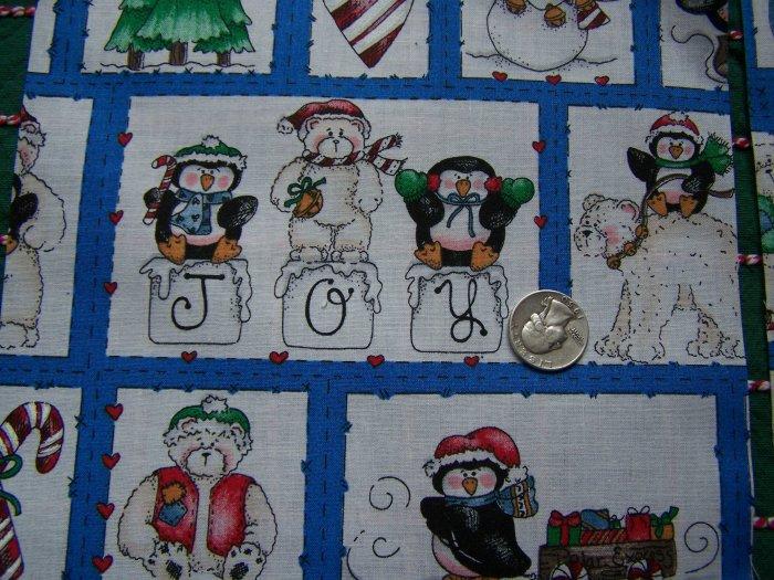 22 Square Pieces Christmas Cotton Fabric Quilting Material Dianna Marcum Marcus