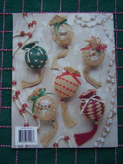 12 Annie's Attic Dome Christmas Ornaments Crochet Patterns Round Ball Tassel