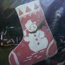 1 Cent USA S&H Vogart Snowman Christmas Stocking Net Darning Craft Kit