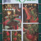 Simplicity Christmas Sewing Pattern 9748 Tree Skirt Ornaments Table Mantle Socks